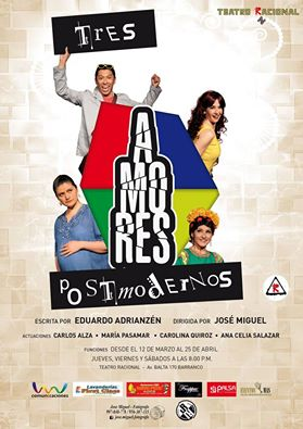 """Tres amores postmodernos"" es una obra de Eduardo Adrianzén."