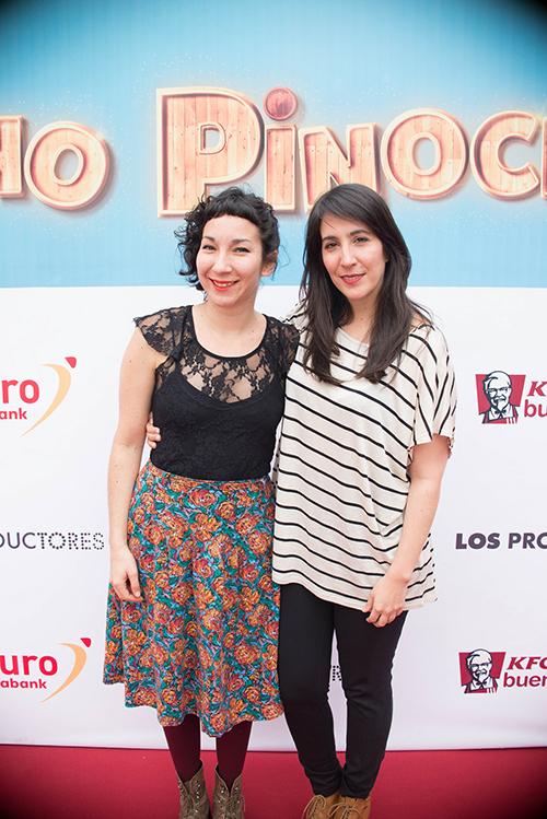 """Ana Chung y Nishme Sumar en estreno de """"Pinocho"""". (Foto: Difusión/ La Plaza)"""