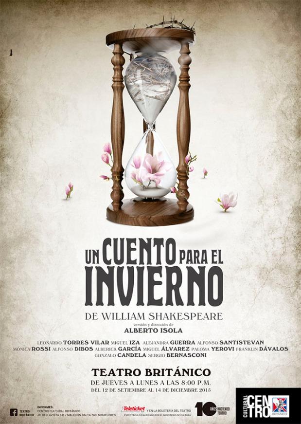 """Afiche oficial de """"Un cuento para el invierno""""."""